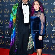 Jason Zavaleta and Carolina Oliva Pedroza arrivers at Gold Movie Awards at Regents Street Theatre, on 9th January 2020, London, UK.