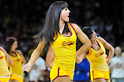 April 13, 2011; Cleveland, OH, USA; A Cleveland Cavaliers cheerleader during the fourth quarter against the Washington Wizards at Quicken Loans Arena. The Cavaliers beat the Wizards 100-93. Mandatory Credit: Jason Miller-US PRESSWIRE
