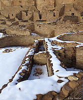 Casa Bonita Solstice with Snow I. Chaco Canyon, New Mexico - Winter Solstice, 12/21/2011.