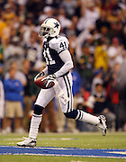 IRVING, TX - NOVEMBER 29: Cornerback Terence Newman #41 of the Dallas Cowboys after intercepting a pass in the second quarter of the game against the Green Bay Packers on November 29, 2007 at Texas Stadium in Irving, Texas. The Cowboys defeated the Packers 37-27. ©Paul Anthony Spinelli *** Local Caption *** Terence Newman