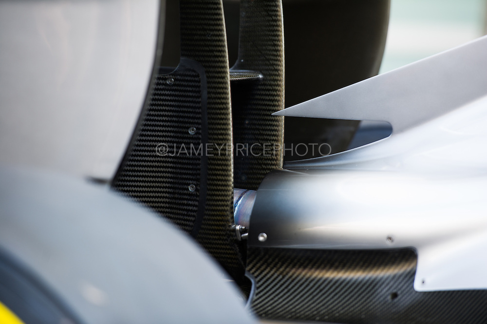 November 21-23, 2014 : Abu Dhabi Grand Prix, Mercedes exhaust detail