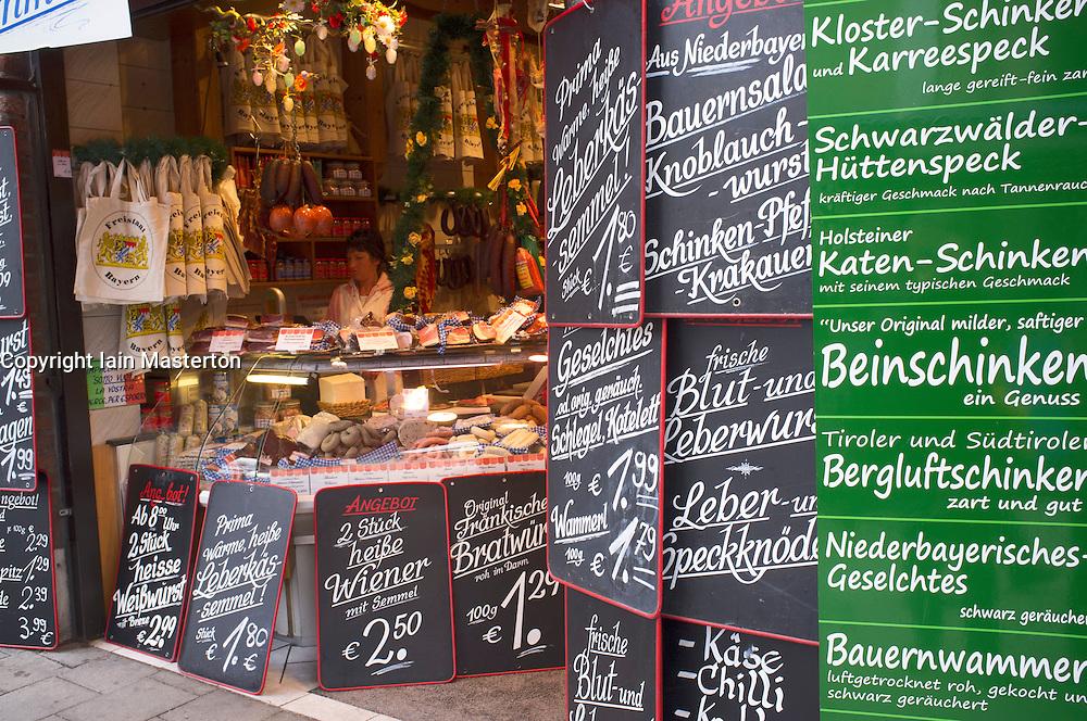 traditional delicatessen shop in Munich Germany