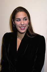 MISS JESSICA DE ROTHSCHILD daughter of Sir Evelyn de Rothschild, at a party in London on 7th November 2000.OIT 90