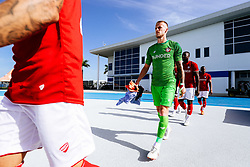 Daniel Bentley of Bristol City during the 2nd leg of the match after the previous day's game was abandoned at half time due to extreme weather - Rogan/JMP - 14/07/2019 - IMG Academy, Bradenton - Florida, USA - Bristol City v Derby County - Pre-Season Tour Day 3.