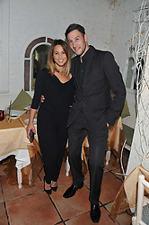 RACHEL STEVENS and ALEX BOURNE at a party to celebrate the publication of Seductive Interiors by Sara Hersham Loftus at Julie's, 135 Portland Road, London W11 on 15th November 2012.