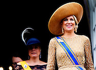 17-09-2013 Prinsjesdag Prince Constantijn and Princess Laurentien and Queen Maxima and King Willem-Alexander on the balcony of palace Noordeinde in The Hague  COPYRIGHT ROBIN UTRECHT