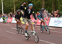LONDON UK 30TH JULY 2016:  Mark Emsley (GBR) The Mall. The Brompton World Championship. Prudential RideLondon in London 30th July 2016<br /> <br /> Photo: Eddie Keogh/Silverhub for Prudential RideLondon<br /> <br /> Prudential RideLondon is the world's greatest festival of cycling, involving 95,000+ cyclists – from Olympic champions to a free family fun ride - riding in events over closed roads in London and Surrey over the weekend of 29th to 31st July 2016. <br /> <br /> See www.PrudentialRideLondon.co.uk for more.<br /> <br /> For further information: media@londonmarathonevents.co.uk