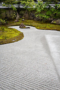 A Zen Garden in the buddhist temple of Kodai-ji, in Kyoto. Most of the temples in Kyoto have zen gardens, some are even well-known throughout the world.