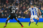 Tosin Adarababioyo (West Brom) & Anthony Knockhaert (Brighton) during the FA Cup fourth round match between Brighton and Hove Albion and West Bromwich Albion at the American Express Community Stadium, Brighton and Hove, England on 26 January 2019.