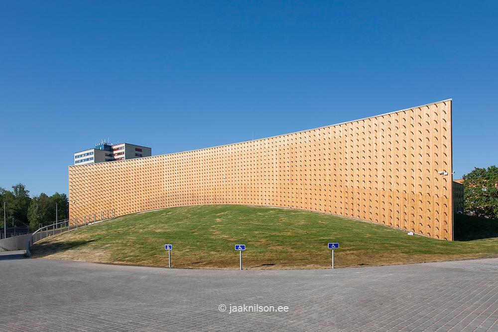 wooden abstract building facade