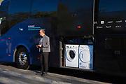 Team Sky bus, and washing machines, Volta Catalunya 2019