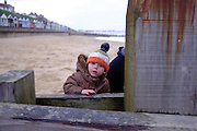 © Licensed to London News Pictures. 30/11/2013. Southwold, UK. Ethan at Southwold - First holiday. Photo credit : Stephen Simpson/LNP