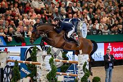 STÜHLMEYER Patrick (GER), Chacgrano<br /> Leipzig - Partner Pferd 2019<br /> Longines FEI Jumping World Cup<br /> Sparkassen-Cup - Grosser Preis von Leipzig<br /> 20. Januar 2019<br /> © www.sportfotos-lafrentz.de/Stefan Lafrentz