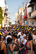 Revelers during the Festival of San Sebastian in San Juan, Puerto Rico.