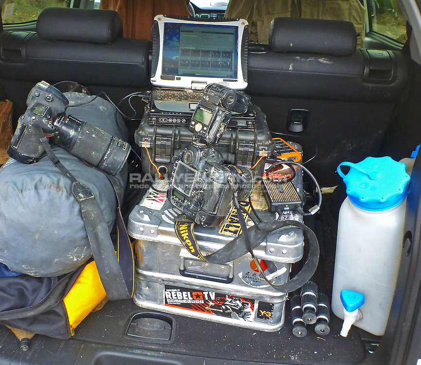 Mobile press office of Robert W. Kranz at the French Extreme 2012.<br />