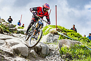 Neko Mulally during Sunday practise at the UCI Mountain Bike World Cup in Fort William.