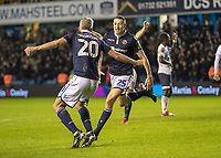 Football - 2018 / 2019 Emirates FA Cup - Fourth Round: Millwall vs. Everton<br /> <br /> Murray Wallace (Millwall FC) turns away after scoring the winning goal at The Den.<br /> <br /> COLORSPORT/DANIEL BEARHAM