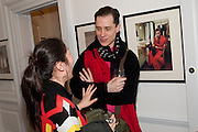 KIMINO HOMNA; TRISTRAN WEBER , Book launch for Isabella Blow- A Life in Fashion. Book by Lauren Goldstein Crowe. Henrietta St. London. 23 February 2011. -DO NOT ARCHIVE-© Copyright Photograph by Dafydd Jones. 248 Clapham Rd. London SW9 0PZ. Tel 0207 820 0771. www.dafjones.com.