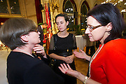 Vienna, Austria. Cocktail reception hosted by Mayor Michael Häupl at City Hall for international scientists and researchers living and working in Vienna.<br /> Prof. Mag. Dr. Susanne Weigelin-Schwiedrzik, Vice Rector University of Vienna (l.)