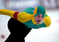 Skøyter, 21. desember 2002. NM enkeltdistanser. Reidar Borgersen vant 5000 meter