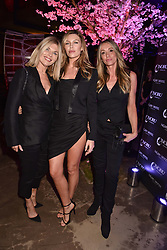 Left to right, Karen Sullivan, Abbey Clancy and Heidi Kennedy at the launch of Nobu Hotel London Shoredith,10-50 Willow Street, London, England. 15 May 2018.