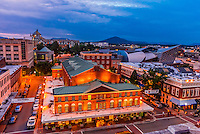 Overview of the Historic Roanoke City Market, Downtown Roanoke, Virginia USA.