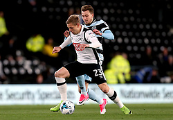 Matej Vydra of Derby County goes past Luke Freeman of Queens Park Rangers - Mandatory by-line: Robbie Stephenson/JMP - 31/03/2017 - FOOTBALL - iPro Stadium - Derby, England - Derby County v Queens Park Rangers - Sky Bet Championship