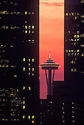 Image of the Space Needle and downtown office buildings in Seattle, Washington, Pacific Northwest