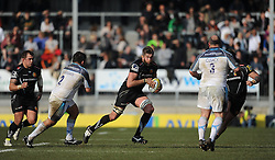 Geoff Parling of Exeter Chiefs breaks the line.  - Mandatory byline: Alex Davidson/JMP - 12/03/2016 - RUGBY - Sandy Park -Exeter Chiefs,England - Exeter Chiefs v Newcastle Falcons - Aviva Premiership