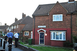 © Licensed to London News Pictures. 19/08/2018<br /> New Eltham, UK. A property on Adderley Gardens raided by police, believed to be the home of attacker Joe Xuereb. Police are currently looking for 27 year old Joe Xuereb following a Hammer attack on two women in New Eltham, south east London.  <br /> Photo credit: Grant Falvey/LNP