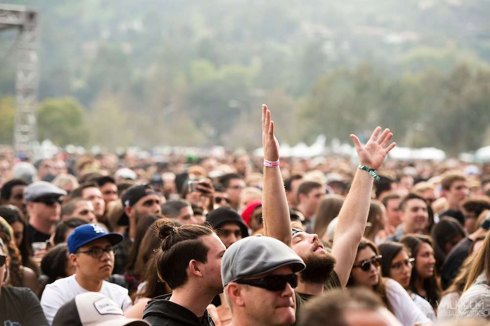 Fan during Phantogram at Air & Style LA at the Rose Bowl in Pasadena, CA. ©Brett Wilhelm/ESPN