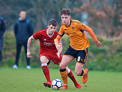 WOLVERHAMPTON, ENGLAND - Tuesday, December 19, 2017: Wolverhampton Wanderer's Terry Taylor during an Under-18 FA Premier League match between Wolverhampton Wanderers and Liverpool FC at the Sir Jack Hayward Training Ground. (Pic by David Rawcliffe/Propaganda)