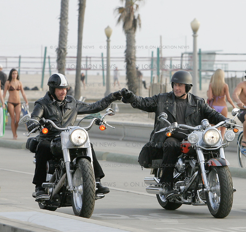 December 15, 2006 Santa Monia, California. Tim Allen & John Travolta film one of the final scenes for the film Wild Hogs. Photo by Eric Ford 818-613-3955 info@onlocationnews.com