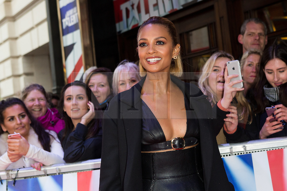 """© Licensed to London News Pictures. 22/01/2016. London, UK. Alesha Dixon arrives at The Dominion Theatre in London for the """"Britain's Got Talent"""" auditions. Photo credit : Vickie Flores/LNP"""