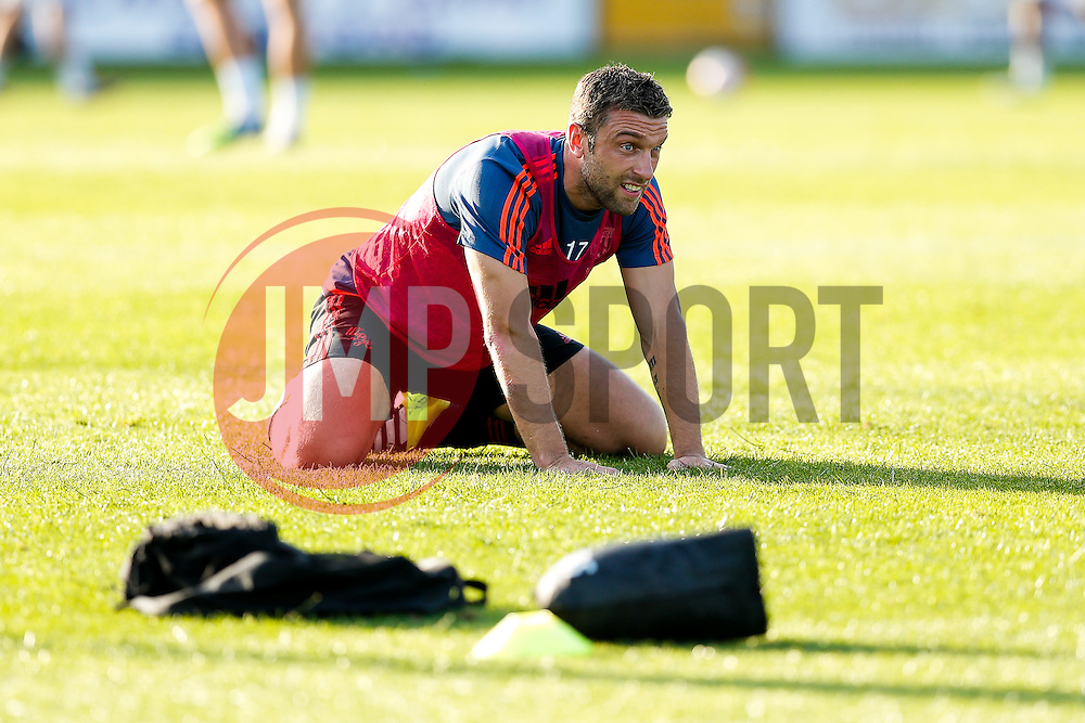 Rickie Lambert of West Brom, who only today completed his transfer from Liverpool, warms up before the game - Mandatory byline: Rogan Thomson/JMP - 07966 386802 - 31/07/2015 - FOOTBALL - Memorial Stadium - Bristol, England - Bristol Rovers v West Bromwich Albion - Phil Kite Testimonial Match.