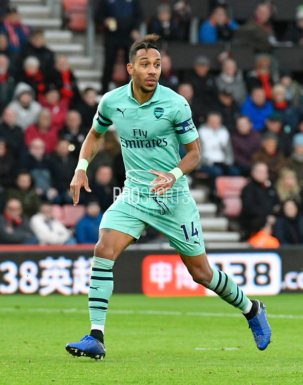 Pierre-Emerick Aubameyang (14) of Arsenal during the Premier League match between Bournemouth and Arsenal at the Vitality Stadium, Bournemouth, England on 25 November 2018.