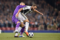 Gonzalo Higuain of Juventus during the UEFA Champions League Final match between Real Madrid and Juventus at the National Stadium of Wales, Cardiff, Wales on 3 June 2017. Photo by Giuseppe Maffia.<br /> <br /> Giuseppe Maffia/UK Sports Pics Ltd/Alterphotos