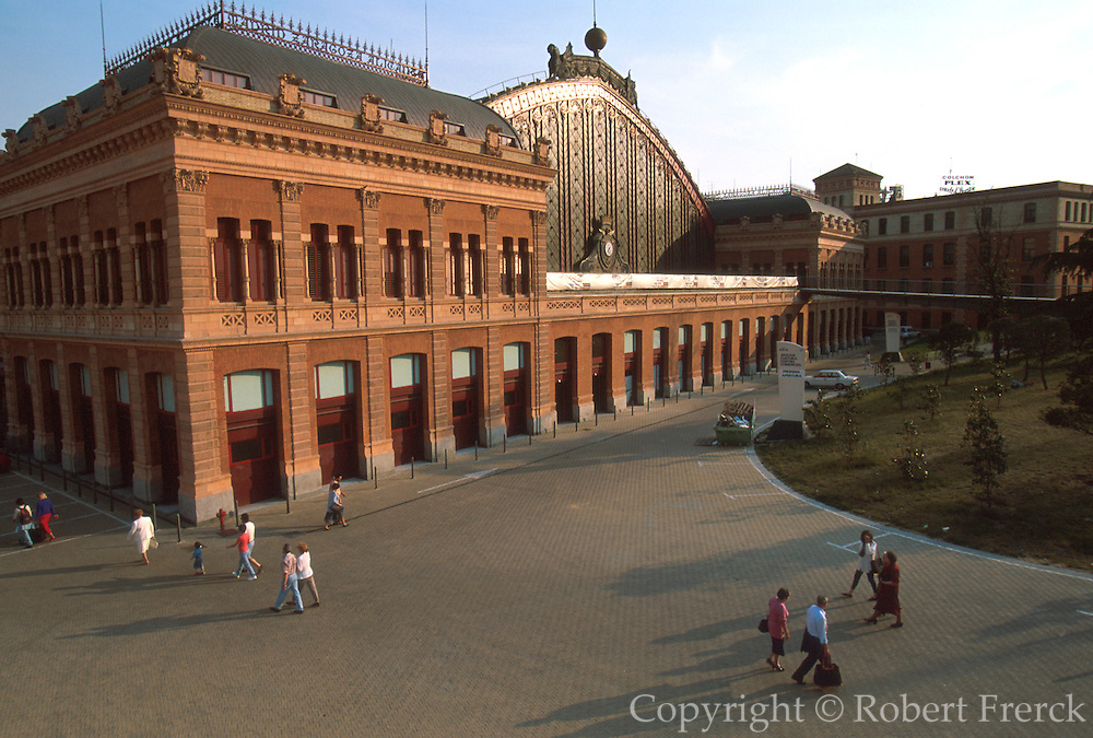 SPAIN, TRANSPORTATION Atocha Railroad Station, one of Madrid's main stations and recently renovated located at Paseo del Prado and Atocha