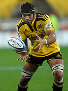 Hurricanes no 8 Victor Vito. Super 15 rugby match - Hurricanes v Blues at Westpac Stadium, Wellington, New Zealand on Friday, 30 April 2011. Photo: Dave Lintott / photosport.co.nz