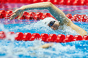Ashgabat, Turkmenistan - 2017 September 24: Meichen Sun from People's Republic of China competes in Women's 200m Freestyle Heat 2 while Short Course Swimming competition during 2017 Ashgabat 5th Asian Indoor &amp; Martial Arts Games at Aquatics Centre (AQC) at Ashgabat Olympic Complex on September 24, 2017 in Ashgabat, Turkmenistan.<br /> <br /> Photo by &copy; Adam Nurkiewicz / Laurel Photo Services