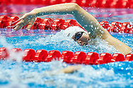 Ashgabat, Turkmenistan - 2017 September 24: Meichen Sun from People's Republic of China competes in Women's 200m Freestyle Heat 2 while Short Course Swimming competition during 2017 Ashgabat 5th Asian Indoor & Martial Arts Games at Aquatics Centre (AQC) at Ashgabat Olympic Complex on September 24, 2017 in Ashgabat, Turkmenistan.<br /> <br /> Photo by © Adam Nurkiewicz / Laurel Photo Services