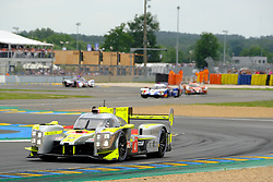 June 16, 2018 - Le Mans, Sarthe, France - Bykolles Racing Team ENSO CLM P1/01 NISMO Driver OLIVER WEBB (GBR) in action during the 86th edition of the 24 hours of Le Mans 2nd round of the FIA World Endurance Championship at the Sarthe circuit at Le Mans - France (Credit Image: © Pierre Stevenin via ZUMA Wire)