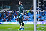 Leeds United goalkeeper Kiko Casilla (13) warming up during the EFL Sky Bet Championship match between Leeds United and Queens Park Rangers at Elland Road, Leeds, England on 2 November 2019.