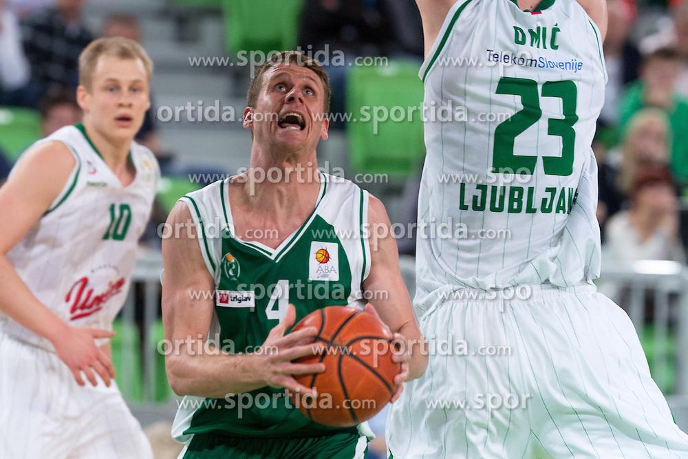 Luka Lapornik of Krka during basketball match between Union Olimpija and Krka Novo Mesto in 25th Round of ABA League, on March 23, 2014 in SRC Stozice, Ljubljana, Slovenia. Photo by Matic Klansek Velej/ Sportida