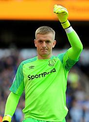 Jordan Pickford of Everton gestures - Mandatory by-line: Nizaam Jones/JMP - 11/08/2018/ - FOOTBALL -Molineux  - Wolverhampton, England - Wolverhampton Wanderers v Everton - Premier League