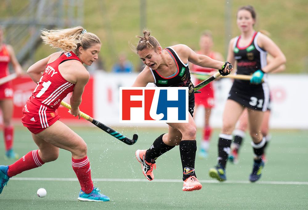 AUCKLAND - Sentinel Hockey World League final women<br /> Match id 10293<br /> 03 England v Germany <br /> Foto: Suzy Petty and Lisa Altenburg(C) <br /> WORLDSPORTPICS COPYRIGHT FRANK UIJLENBROEK