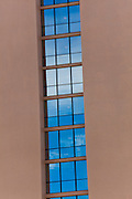 Hotel windows in vertical pattern , architectue detail image