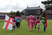 Englend & South Africa enter the field during the One Day International match between South Africa and England at Bidvest Wanderers Stadium, Johannesburg, South Africa on 9 February 2020.