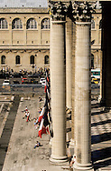 """France. Paris. elevated view. The place of Pantheon, view from the """"hotel  des grands hommes""""  Paris  France"""