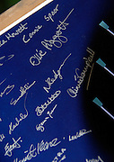 Henley, GREAT BRITAIN, Close up of signature of Natalie REDGRAVE, on Poster, signed by all competing crew members, auctioned, to raise funds for Henley Boat Races. Successful bid was £200. 2011 Henley Boat Races, Temple Island, Henley Reach, River Thames, England  Sunday  27/03/2011.  [Mandatory Credit, Karon Phillips /Intersport-images]